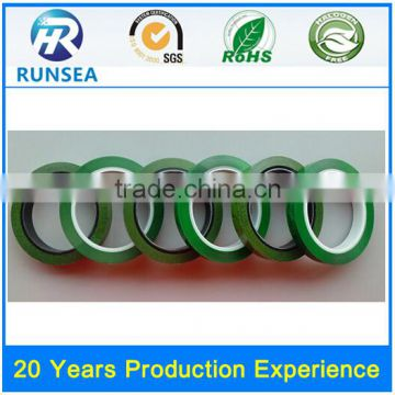 green tie tapes for high temperature protection and holding purpose