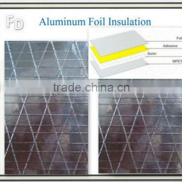 aluminum foil backed insulation roll with soundproofing material