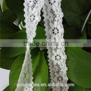 Tulle Lace French Net Lace White Flower Trimming For Girl Party Dresses