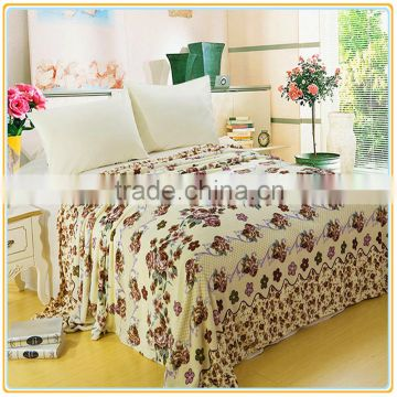 Super Soft Fleece Elegant White Roses Prints Throw Blankets for Sofa Couch Lounge Bed Bedding