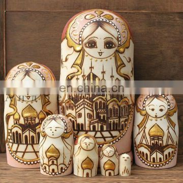 2014 hottest sale wood russian nesting dolls matryoshka