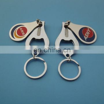 custom company logo engraved multifunctional nail clipper with bottle opener for gift
