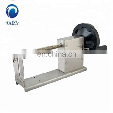 Electrical spiral potato chips making machine / spiral fries / spiral potato cutting machine for sale(0086-13683717037)