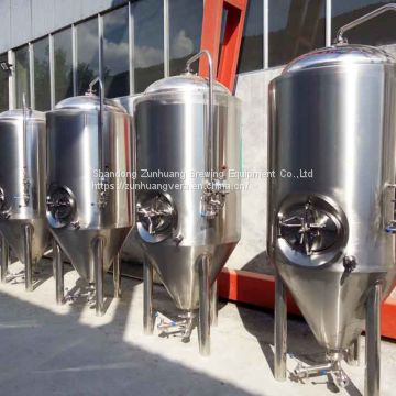 Conical beer fermenter fermentation tank beer water tank Zunhuang equipment