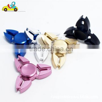 EN71/ASTM/CPSC anti-pressure ABS material triangle metal hand spinner//