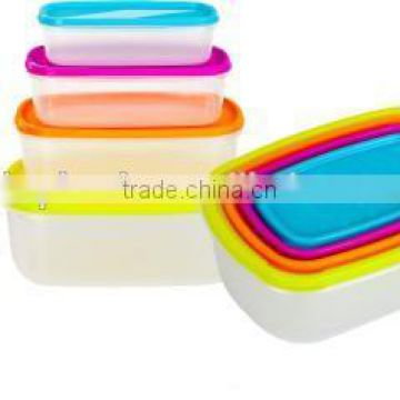 Rainbow Food Storage, plastic food container,rectangle Storage Container