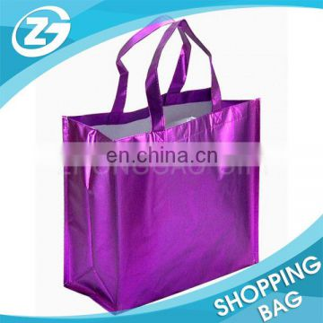 Wholesale Fashion OEM Custom Promotion Gift Gold Silver Film Metallic Laminated Non Woven Bag
