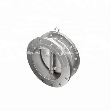 DN100 api WCB class150 cast steel flanged end wafer check valve price