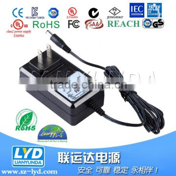 For Electric Toy Car Safety standard 12V 2A Lithium Battery Charger with PSE certificate