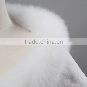 White color fashion luxury fur shawl for bride lady winter witn rabbit fur