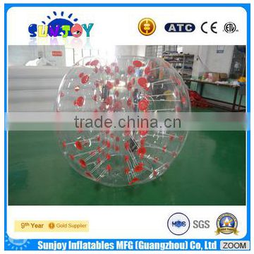High Quality PVC/TPU Inflatable Bubble Ball Costume Roll outdoor Inflatable bumper Ball Inflatable Ball Suit