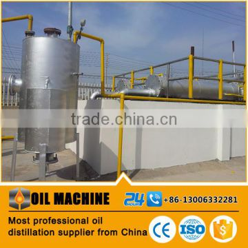 Oil distillation plant refining waste engine oil to diesel for Waste motor oil to diesel