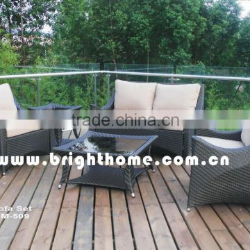 Aluminum Pe rattan Handcraft BM-509 Wicker Outdoor Sofa