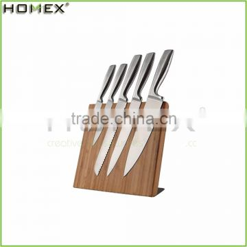 Bamboo Magnetic Knife Holder with Metal Stand/New Design Knife Organizer/Homex_FSC/BSCI Factory