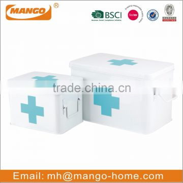 Wall mounted powder coating metal medicine storage containers