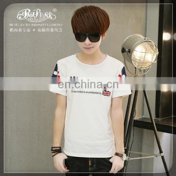 Peijiaxin Fashion Design Casul Style High Quality Fancy Printed Plain Round Neck Man T-shirt