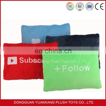 2016 Hot Sale PP Cotton Soft Square Cushion Plush Pillow