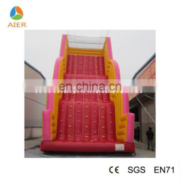 2016 hot selling climbing wall inflatable rock climbing wall kids and adults rock climbing walls