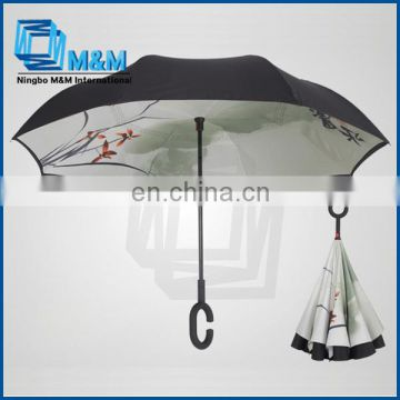 upside down double layer automatic car umbrella
