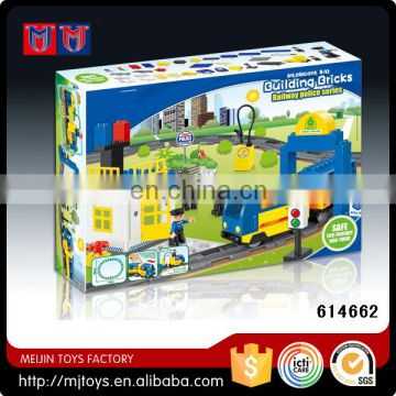 Meijin Educational Toys building block B/O toy car train with music and light