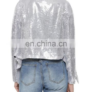 Beautiful All Over Sequin Waterfall Jacket for women