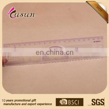 Zhejiang Useful Plastic Straight 20cm with Protractor Ruler