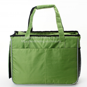 Fashion waterproof fabric tote bag with pockets outside