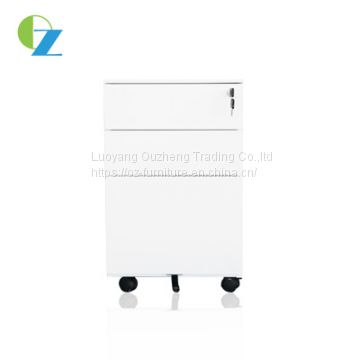 Office mobile pedestal filing small movable steel cabinet for document storage