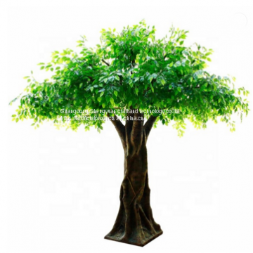 fiberglass trunk artificial large silk cloth banyan tree