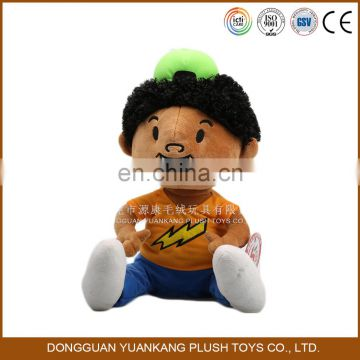 China Dongguan ICTI audit plush African black boy soft doll