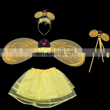 Sexy Yellow Bee Animal Kids Halloween Costume set
