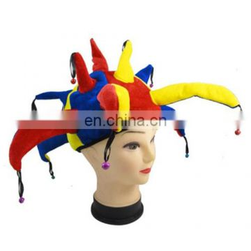Funny Multicolor Halloween Props Clown Hat china por mayor disfraces de halloween