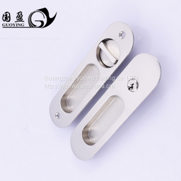 Remove door handle lock double-sided invisible door lock dark handle  sliding door lock toilet bathroom lock hook