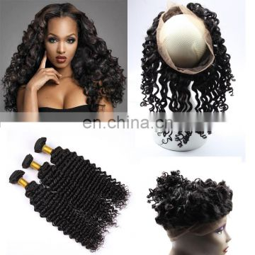 wholesale hair distributors 100% virgin remy brazilian hair 360 lace frontal with bundle