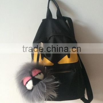 2016 hot sell!! monster handbag with monster fur keychain