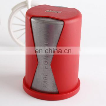 Wholesale Plastic leather dice cup with lid