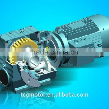 TCG helical gearbox SC Series of worm gear motor from China