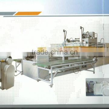 Fast food box fully automatic vacuum forming machine 01