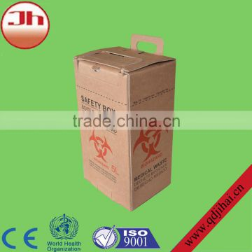 medical consumables medical sharp carboard box,disposable syringes needles box