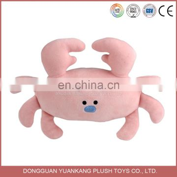 YK Custom Stuffed Sea Animal Plush Pink Crab Soft Toys