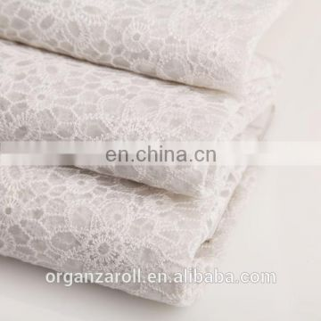 2016 new design floral dress fabric lace embroidery fabric