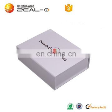 Matte White Magnet Closure Made For Brand Save Space Apparel Packaging Custom Printed Flat Packed Bikini box