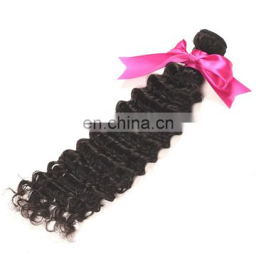 Good Feedback Deep Curl Virgin human hair bundles brazilian hair weave for sale
