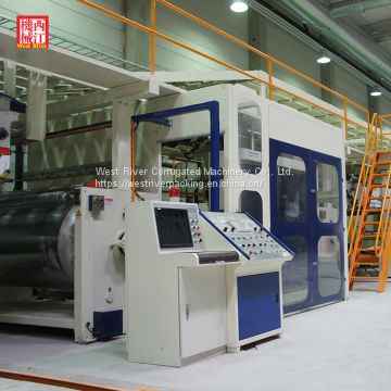 Pre Print Complete Corrugated Cardboard Production Line | Color Marker