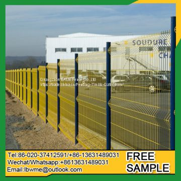 50*150mm mesh metal wire loop fence double wire fencing