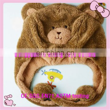 stuffed plush teddy bear hat baby toys