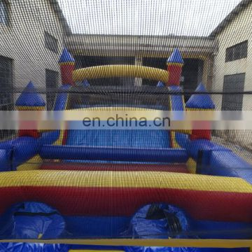 giant multicolor inflatable obstacle course