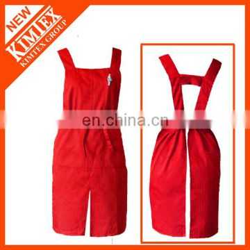 Cheap denim long customized cooking apron cotton