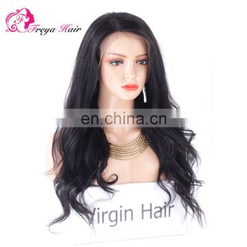 Qingdao factory fashionable virgin brazilian hair wigs for black women
