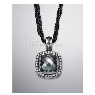 925 Silver Jewelry Moonlight ice Enhancer with Hematite(P-034)